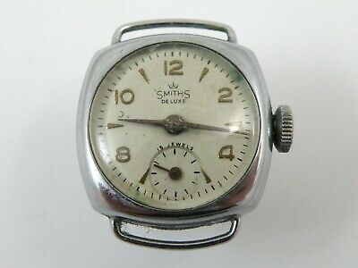 Vintage Smiths Deluxe Ladys Mechanical Wrist Watch - 15 Jewels (No Strap) (Mi06)
