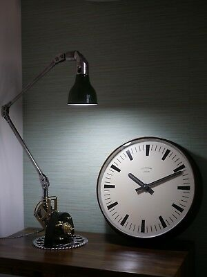 Beautiful Large Industrial Synchronome Copper Station / Factory Wall Clock