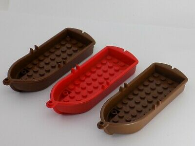 2 Lego PIRATE Brown Boats 14 x 5 x 2