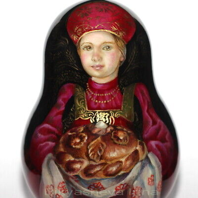 roly poly author doll matryoshka traditional Russian WELCOME girl no nesting