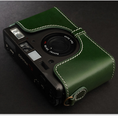 Chic Handmade Genuine Real Leather Half Camera Case Bags Covers for CONTAX T3