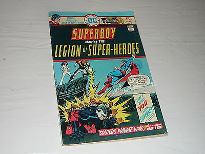 DC Comics Superboy Legion Superman No210 superhero cartoon good condition 1970s
