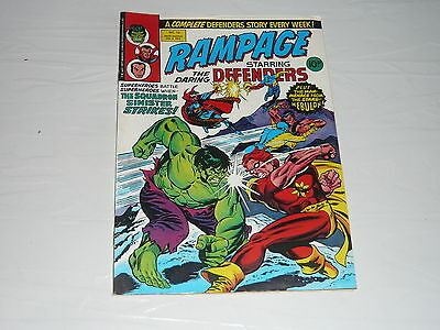 Marvel Comics Rampage Defenders no12 stored since 70s Incredible Hulk Nebulon