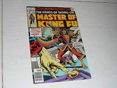 Marvel Comics Shang-Chi Master of Kung Fu No 50 Vintage 1970s good condition