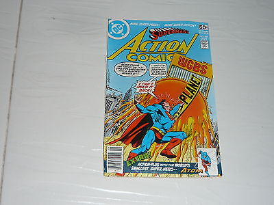 DC Comics Action Superman No487 Stored Since 1970s vintage classic Man of Steel
