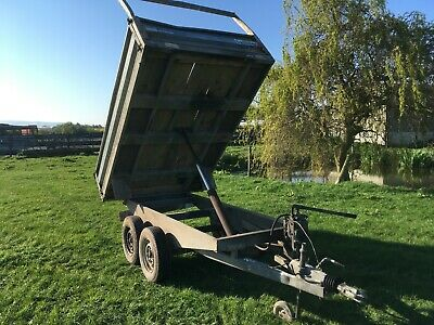Ifor Williams Tipping Trailer 8x4Hand pump,good tyres, cash on collection.