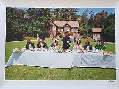 George Harrison Living in the material world photo shoot SIGNED Patti Boyd print