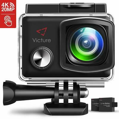 Victure Action Cam 4K Schermo a Touch 20MP WiFi Ultra Full HD 30M/98
