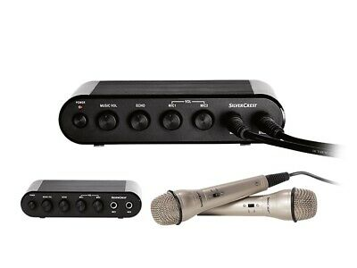 Silvercrest  Karaoke Machine with 2 Microphones hdmi connection new