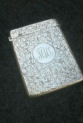 Antique Solid Silver Card Case Sheffield 1898 William Neale