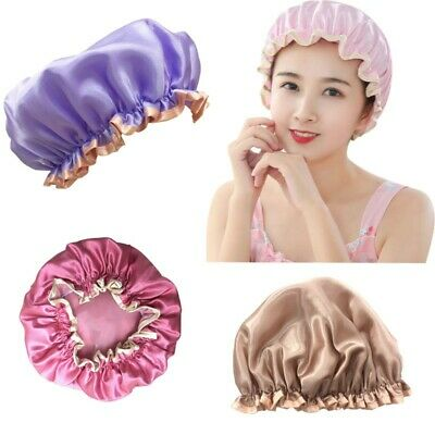 Waterproof Unisex Bath Shower Bath Cap Hats Reusable Bathing Kitchen Hat Covers