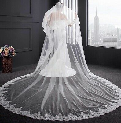 Ivory Cathedral Veil - 350cm