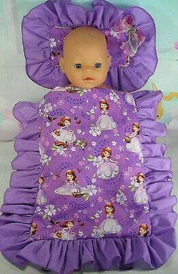 Dolls~Sofia The First~ Pillow & Quilt Cover Set For~ Bed, Cot, Pram, Cradle ~