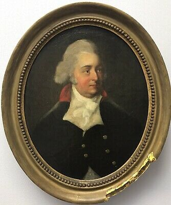 Fine 18th/19th Century antique oil painting portrait military naval officer