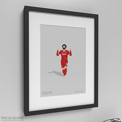 Mo Salah Liverpool Anfield The Kop Football Soccer Art Painting Print Framed