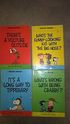 4 Peanuts Parade Cartoon Books by Charles M Shulz-1976