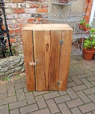VICTORIAN STRIPPED PITCH PINE RUSTIC CUPBOARD~COUNTRY KITCHEN~HEIGHT 76cm/30ins