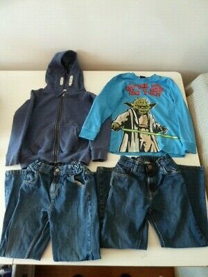 Bundle Boys Clothes Age 5-6 Years~Next Jacket/George Star Wars Top/2 Blue Jeans