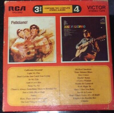 """7"""" Inch Reel Tape Jose Feliciano Feliciano! & The Voice and Guitar"""