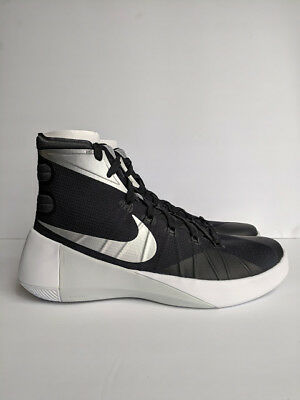 hot sale online c07fc 504b7 Nike Women s Hyperdunk 2015 TB Black Metallic Silver White 11.5 B US