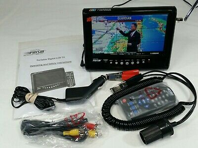 DIGITAL PRISM ATSC 710 7 Inch Portable Digital LCD TV And Accessories