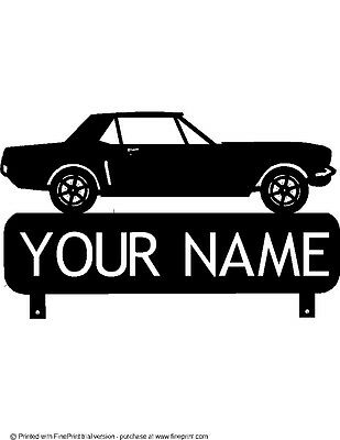 CUSTOM  1957 CHEVY NOMAD MAILBOX TOPPER SIGN BLACK POWDER COAT YOUR NAME