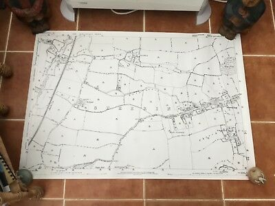 "LOCAL MAP OF SHEERING, ESSEX - 40.5"" x 28"""