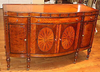 Best Satinwood Burled Walnut French Low Dresser Commode Louis XVI Restored C1920