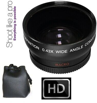 Hi Definition Wide Angle With Macro Lens For Sony HDR-SR12 HDR-SR11