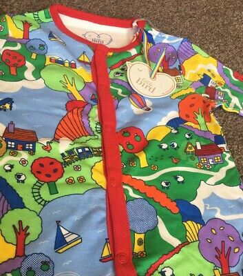 Little Bird By Jools Oliver Baby Boys/Gorls Coutryside Print Sleepsuit 9-12 mths