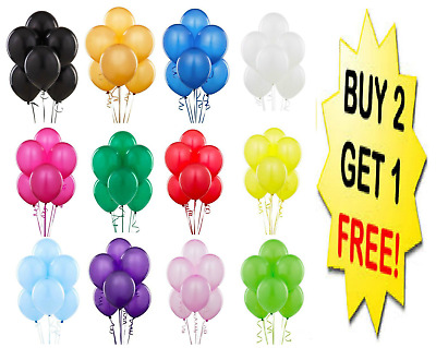 "10"" Latex PLAIN BALOON BALLONS helium BALLOONS Quality Party Birthday Baloons"