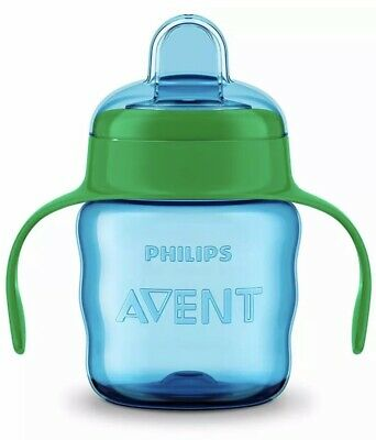 Philips Avent Easy Sip Spout Cup with Handle Blue/Green - 200 ml