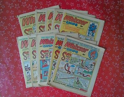 Whizzer and Chips comics from 1975. Ten altogether. See description for dates.