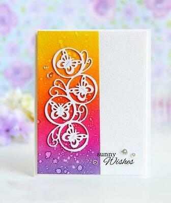 Butterfly Circles Metal Cutting Dies Scrapbook  Decorative Craft Embossing DIY