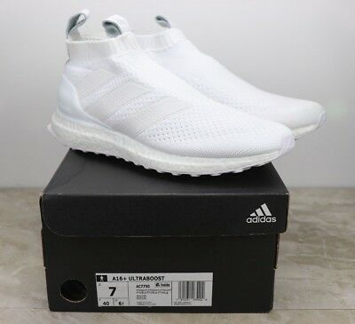 189a675c379a7 Adidas A16+ Plus Ultraboost Triple White Soccer Running Shoes AC7750 Mens  Size 7