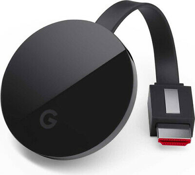Google Chromecast Ultra HDMI 4K Ultra HD Nero dongle Smart TV