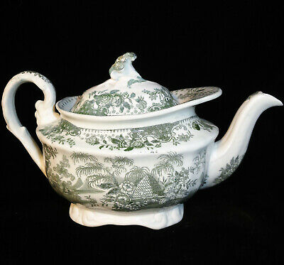 Early BEEHIVE Pearlware Miniature Childs Teapot Staffordshire 1820 Transferware
