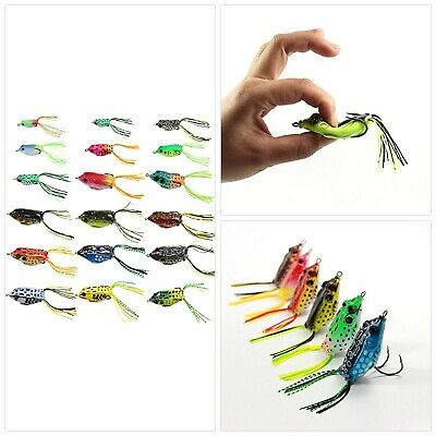 18 PCS Croch Hollow Body Frog Lure Weedless Topwater Kit