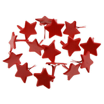 100pcs Red Star Shape Metal Brads Paper Fastener for Scrapbooking Craft 14mm