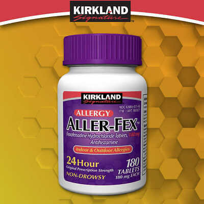 Kirkland Signature Aller-Fex 180 mg., 180 Tablets - Free Shipping! - Fresh!