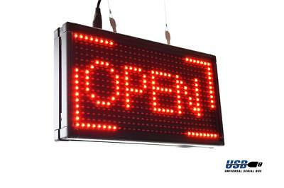 Programmable LED Open Sign 36CM x 20CM Scroll Words High Brightness