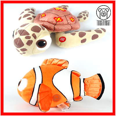Disney Nemo and Squirt The Turtle Soft Toy Lot Plush Stuffed Finding Nemo Bundle