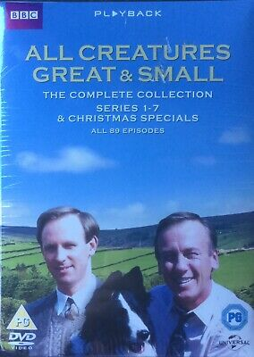 All Creatures Great & Small( New/sealed Dvd Series 1-7 & Xmas Specials 33 Discs)