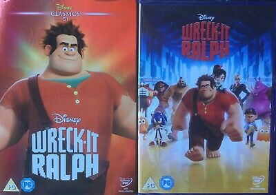 Wreck It Ralph - Disney - With O Ring Cover ( New/sealed Dvd )
