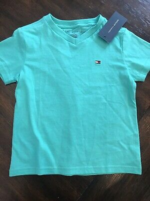 Tommy Hilfiger Baby Boy Logo Shirt Blue Teal 2T Cotton NWT Toddler New $20+