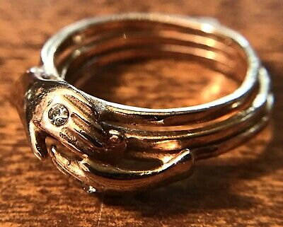 Old Vintage 10KT Yellow Gold Fine Jewelry Fede Gimmal Ring, 2.76g, Wear or Scrap