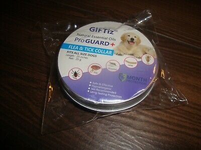 Giftiz Pro Guard+ Natural Essential Oils Flea Tick  Collar Fits All Dogs 8 Month