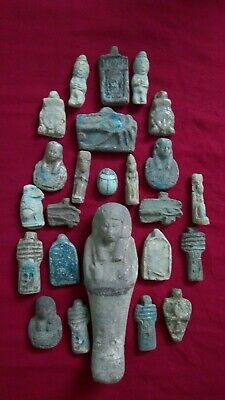 Ancient Egyptian Antiquities rare 24 Amulets ( 1816 BC)