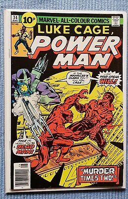Luke Cage - POWER MAN #34 VFN+ (Stunning Bronze age comic, flat glossy cover)