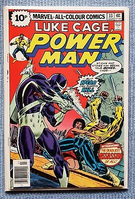 Luke Cage - POWER MAN #33 VFN+ (Stunning Bronze age comic, flat glossy cover)